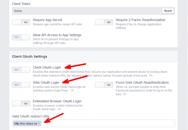 setting facebook apps